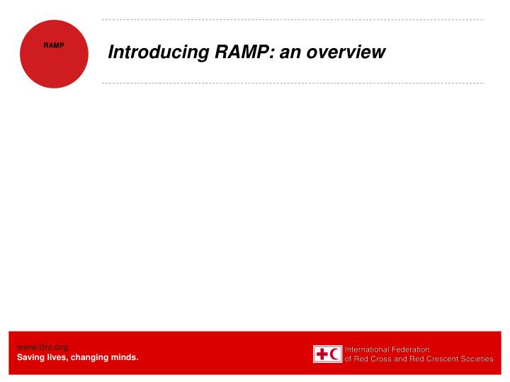 Introducing RAMP: an overview