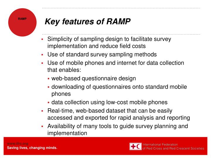 Key features of RAMP
