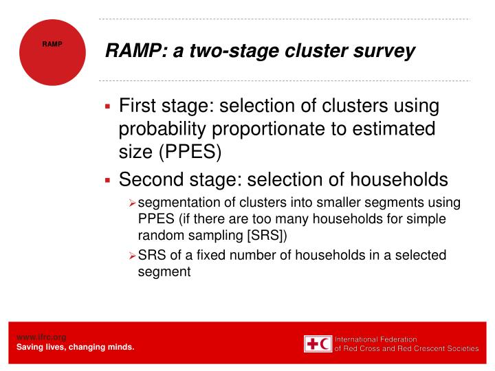 RAMP: a two-stage cluster survey