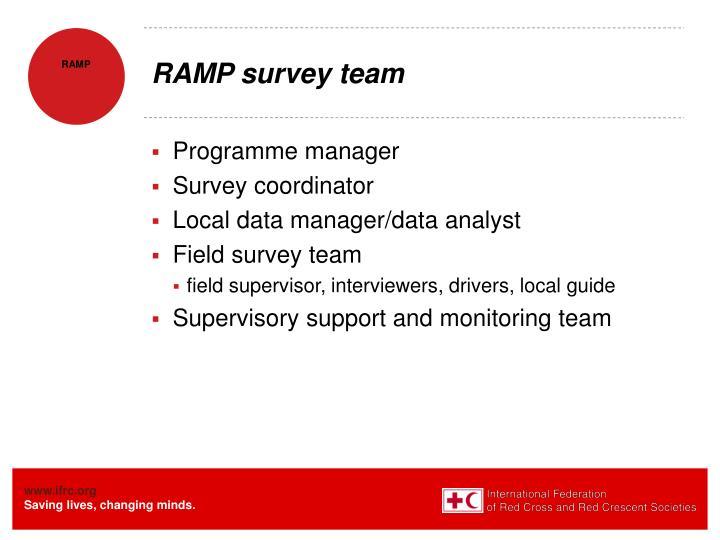 RAMP survey team