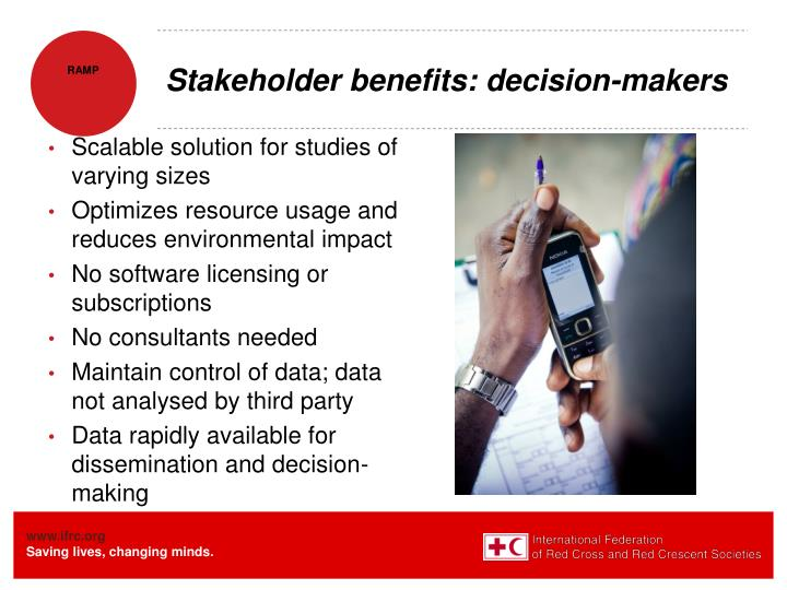 Stakeholder benefits: decision-makers