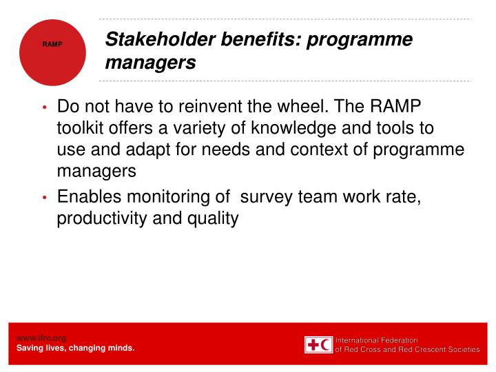 Stakeholder benefits: