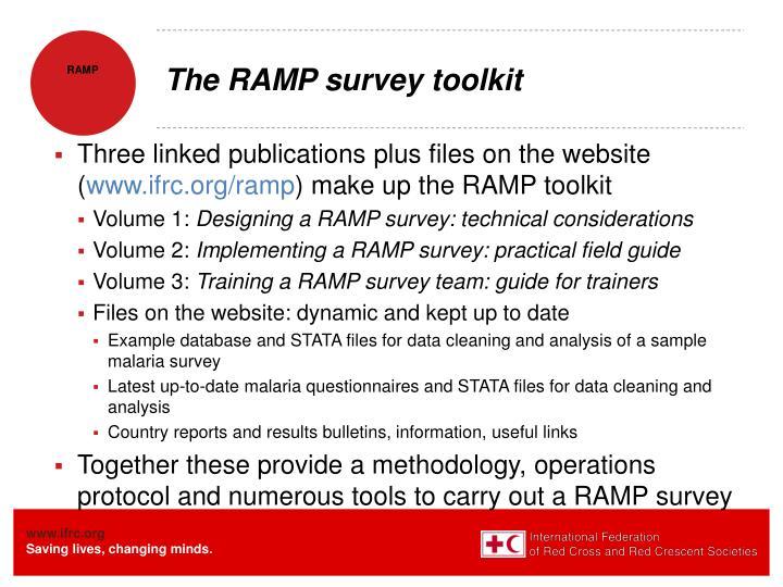 The RAMP survey toolkit