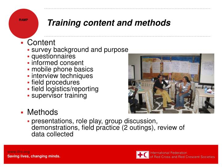 Training content and methods