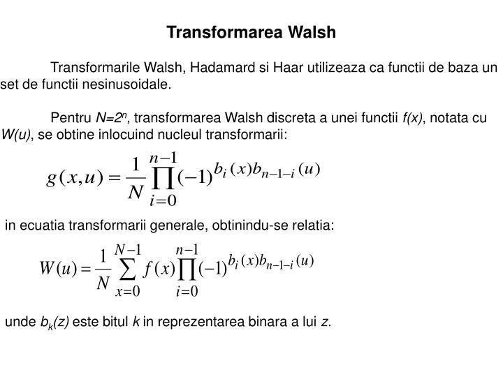 Transformarea Walsh