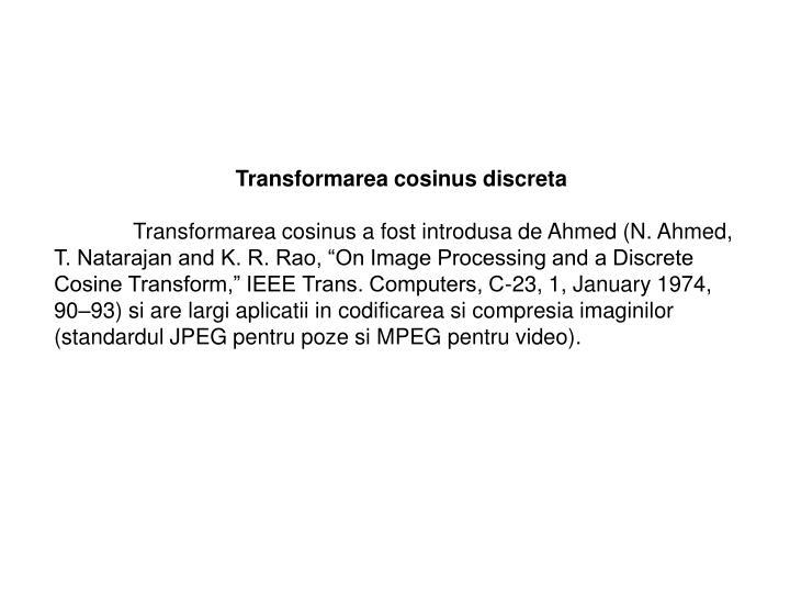 Transformarea cosinus discreta