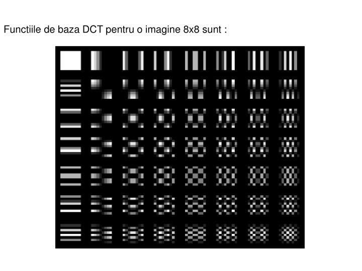 Functiile de baza DCT pentru o imagine 8x8 sunt: