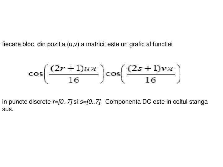 fiecare bloc  din pozitia (u,v) a matricii este un grafic al functiei