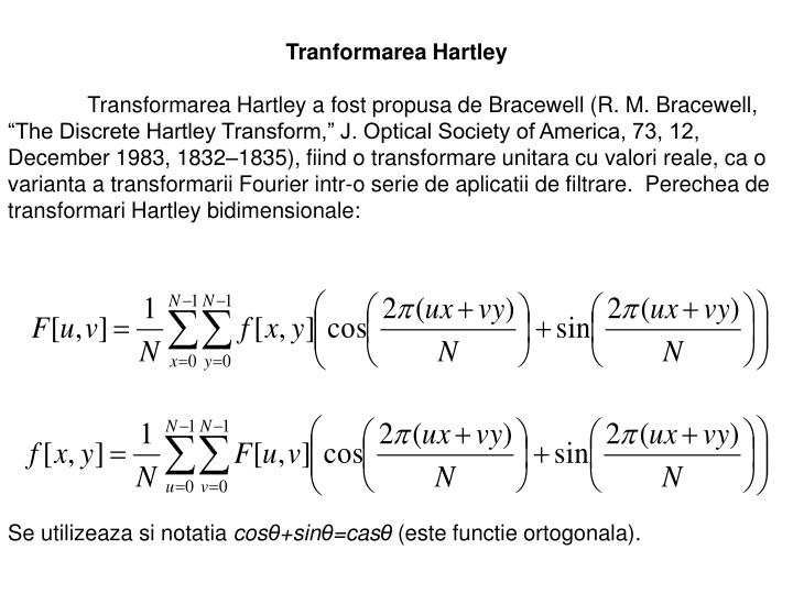Tranformarea Hartley