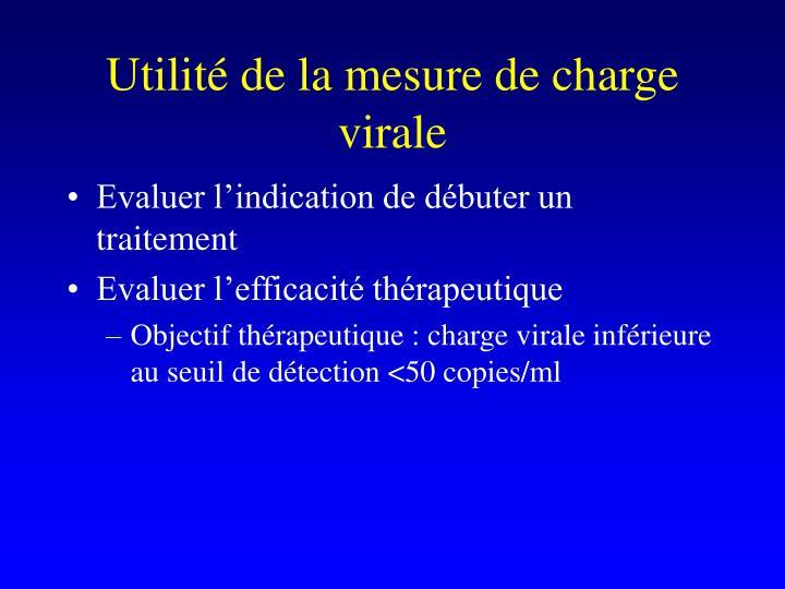 Utilité de la mesure de charge virale