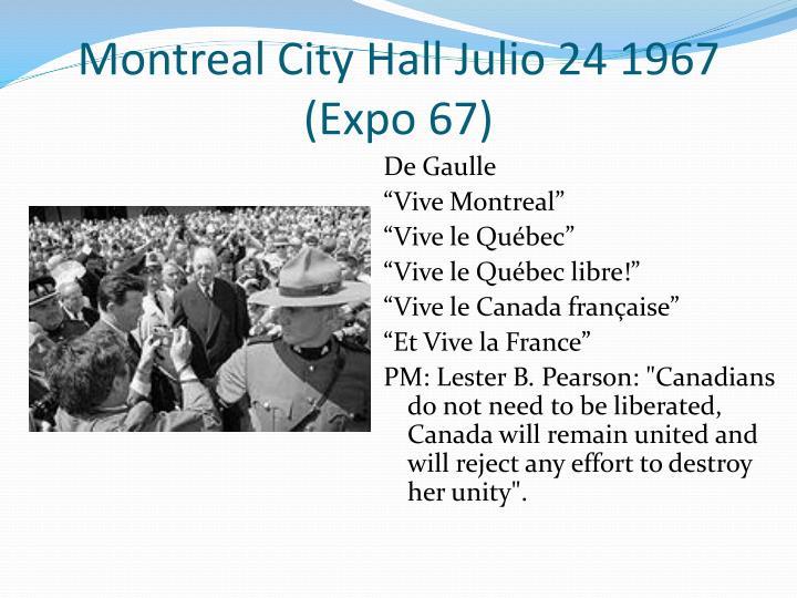 Montreal City Hall Julio 24 1967 (Expo 67)