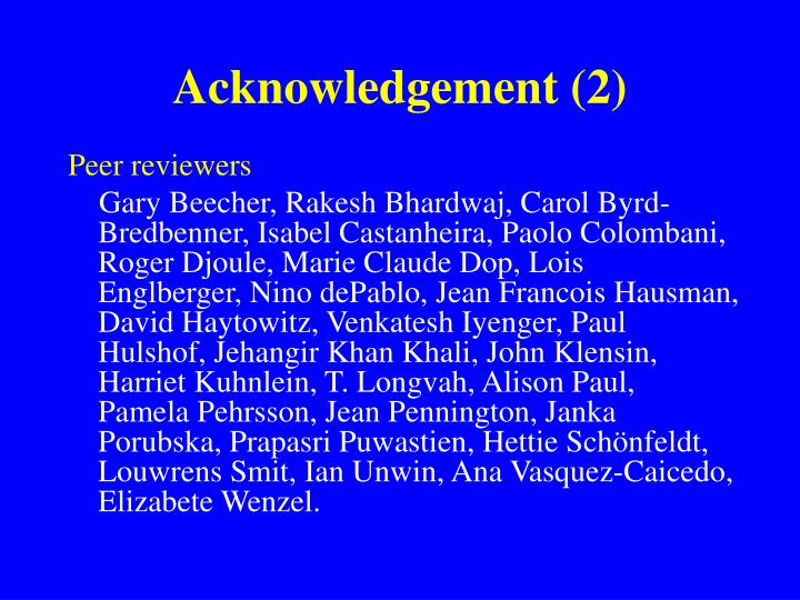 Acknowledgement (2)