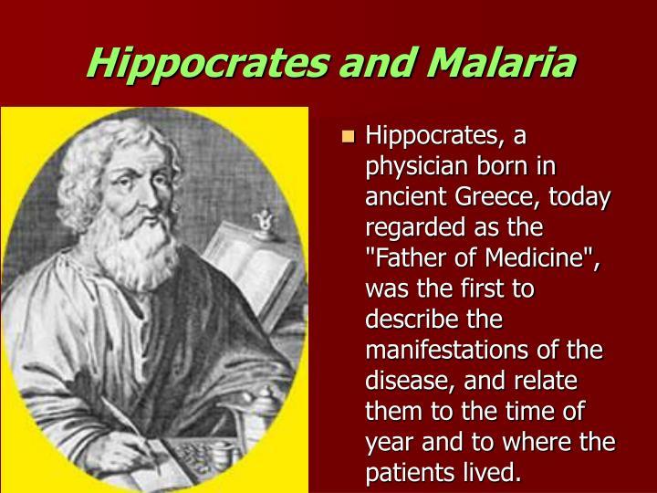 Hippocrates and Malaria