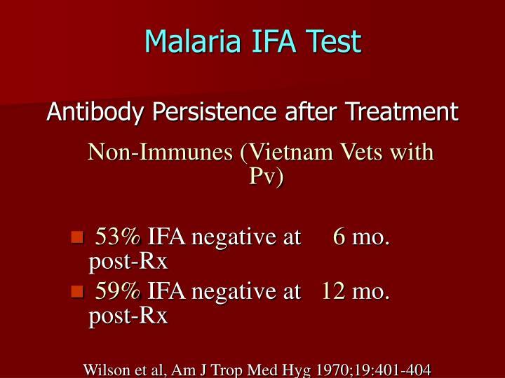 Malaria IFA Test