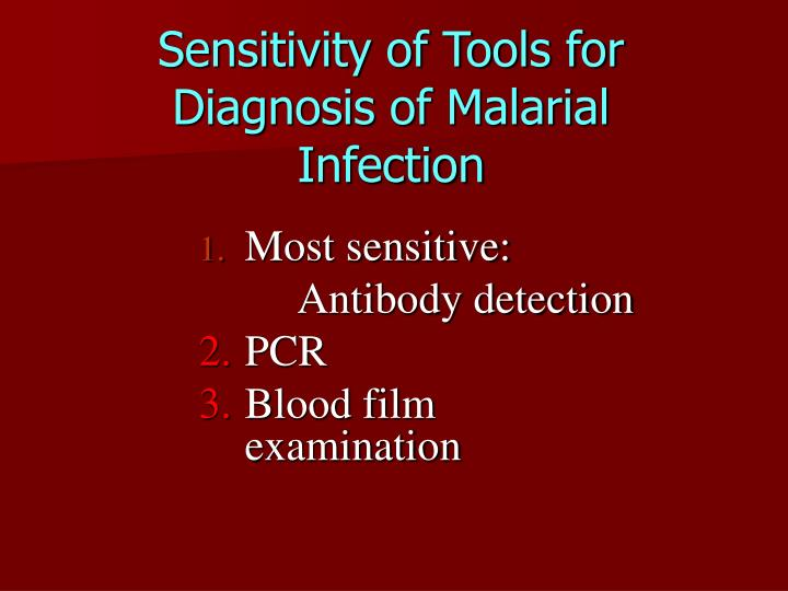 Sensitivity of Tools for