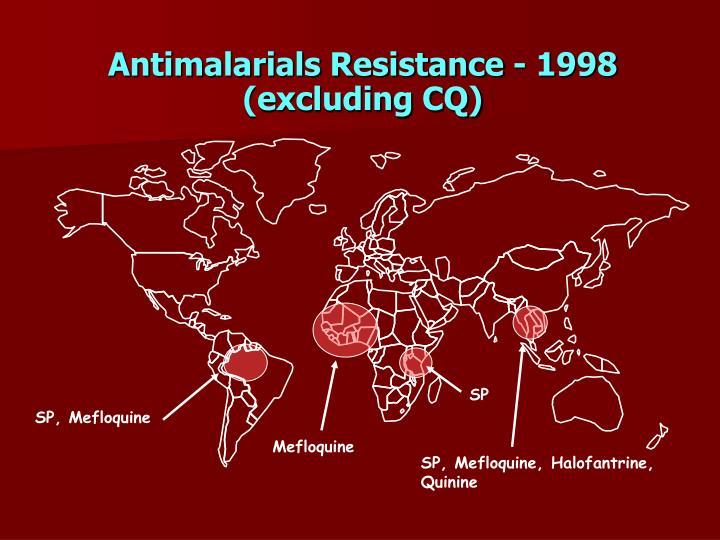 Antimalarials Resistance - 1998