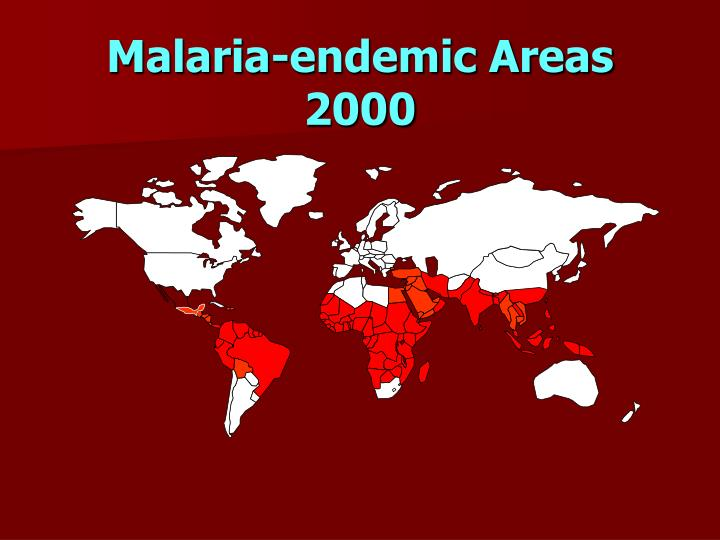 Malaria-endemic Areas 2000