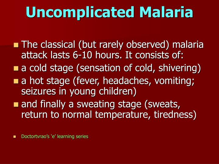 Uncomplicated Malaria