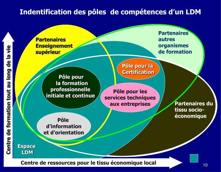 Indentification des pôles  de compétences d'un LDM