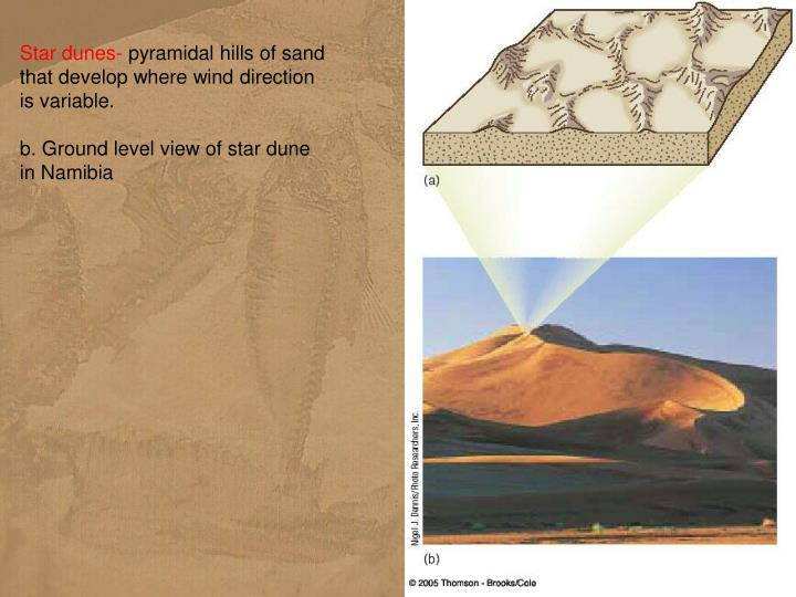 Star dunes-