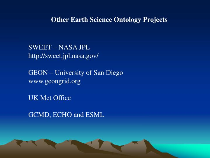 Other Earth Science Ontology Projects
