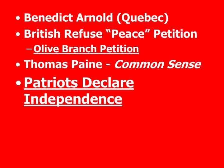 Benedict Arnold (Quebec)