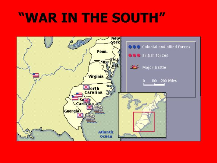 """WAR IN THE SOUTH"""