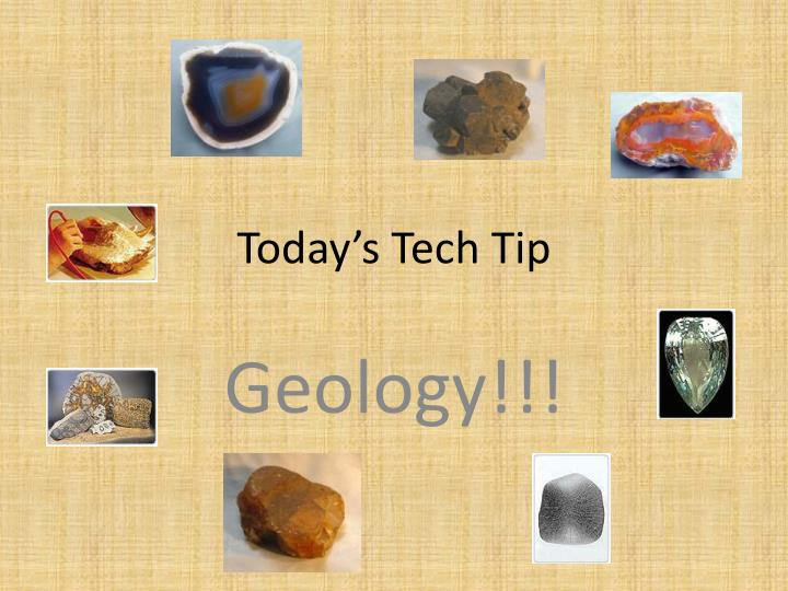Today's Tech Tip