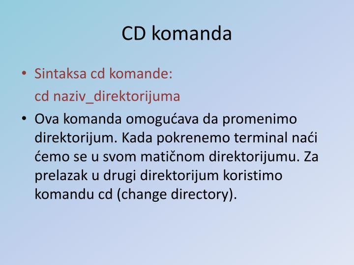 CD komanda