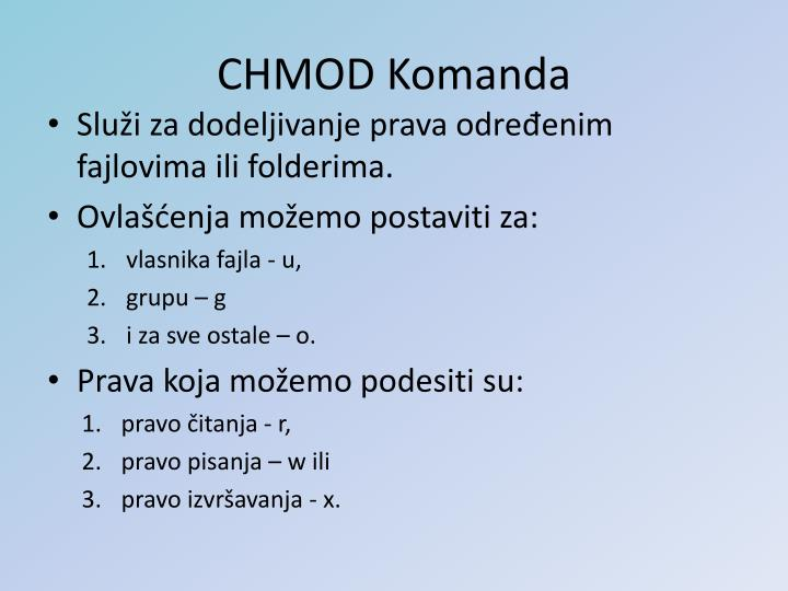 CHMOD Komanda