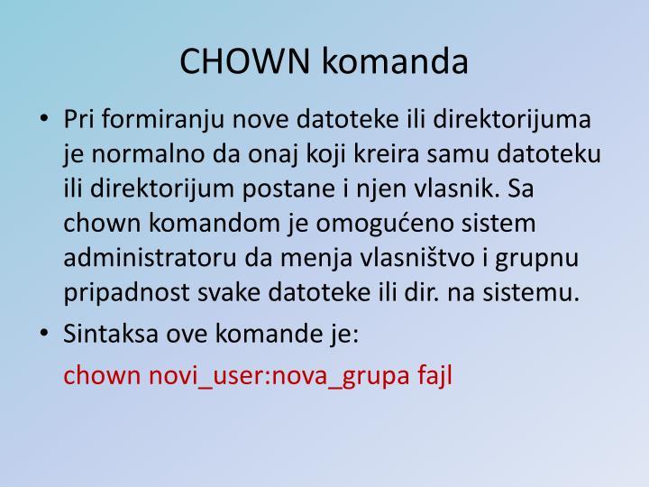 CHOWN komanda