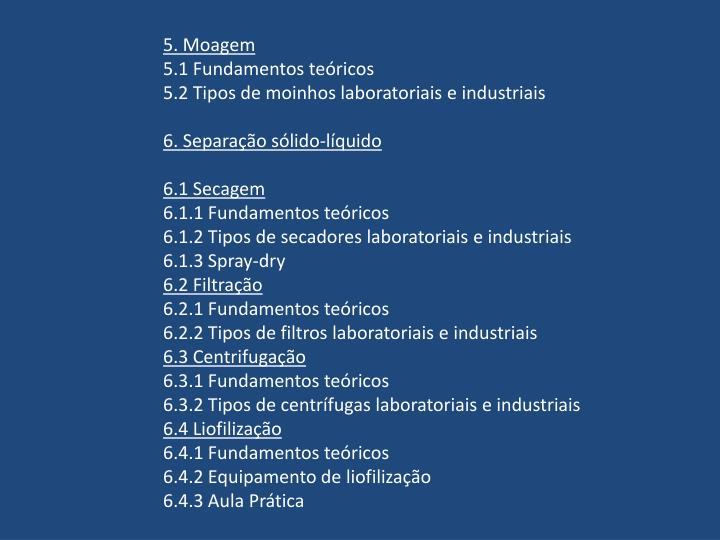 5. Moagem