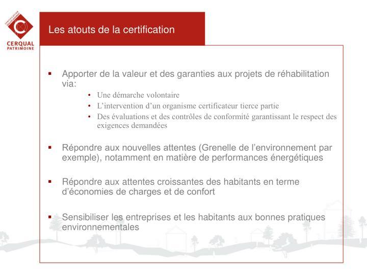Les atouts de la certification