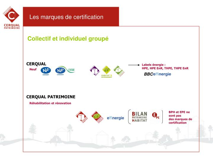 Les marques de certification