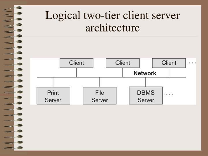 Logical two-tier client server architecture