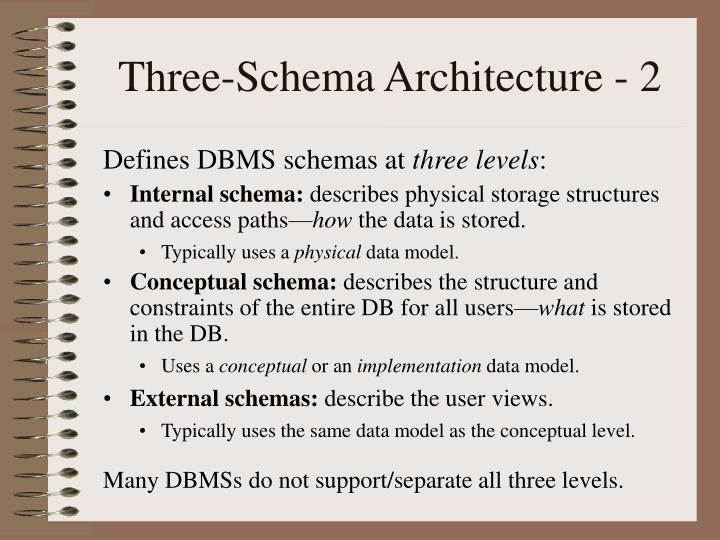 Three-Schema Architecture - 2