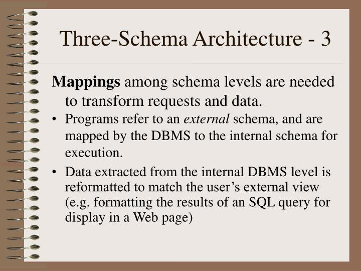 Three-Schema Architecture - 3