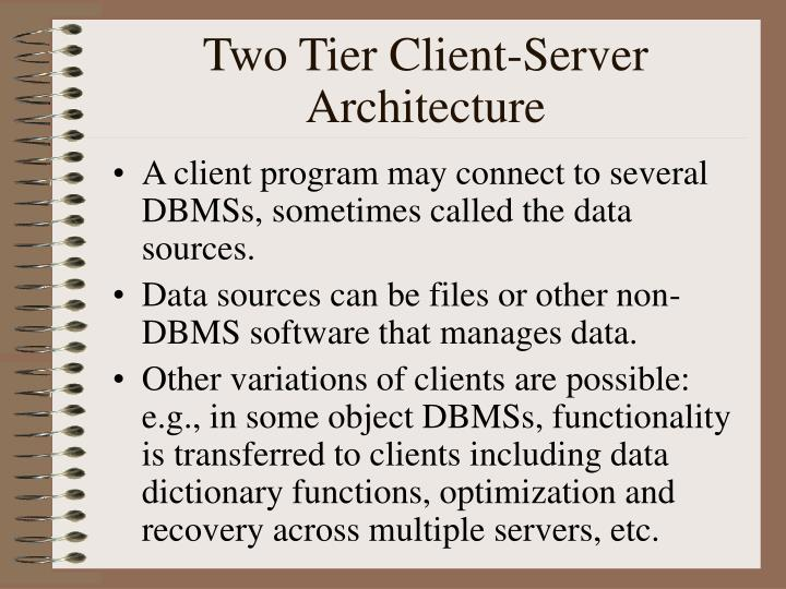 Two Tier Client-Server Architecture