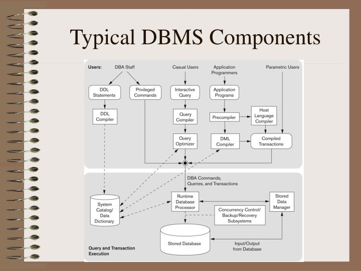 Typical DBMS Components