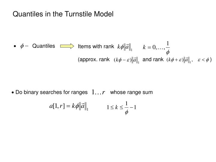 Quantiles in the Turnstile Model