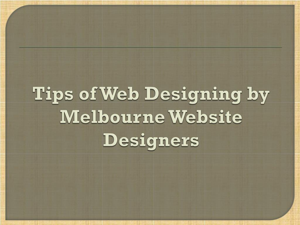 tips of web designing by melbourne website designers