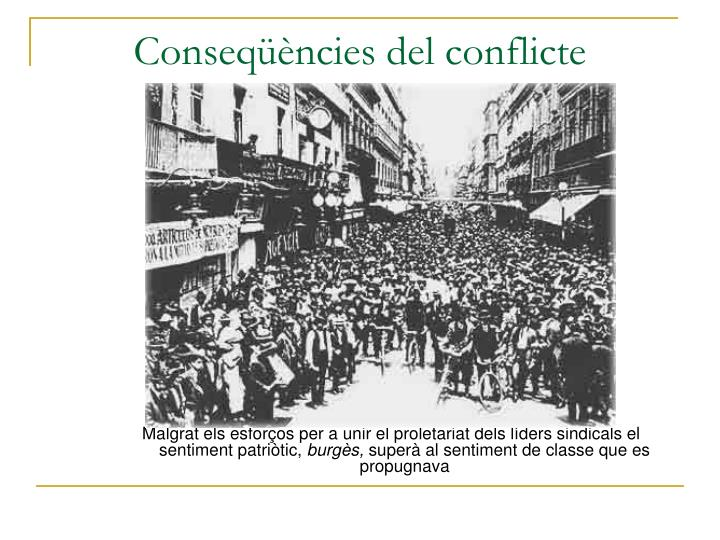 Conseqüències del conflicte