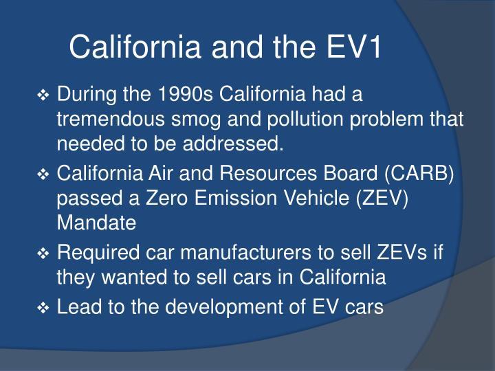 California and the EV1