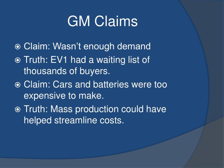GM Claims