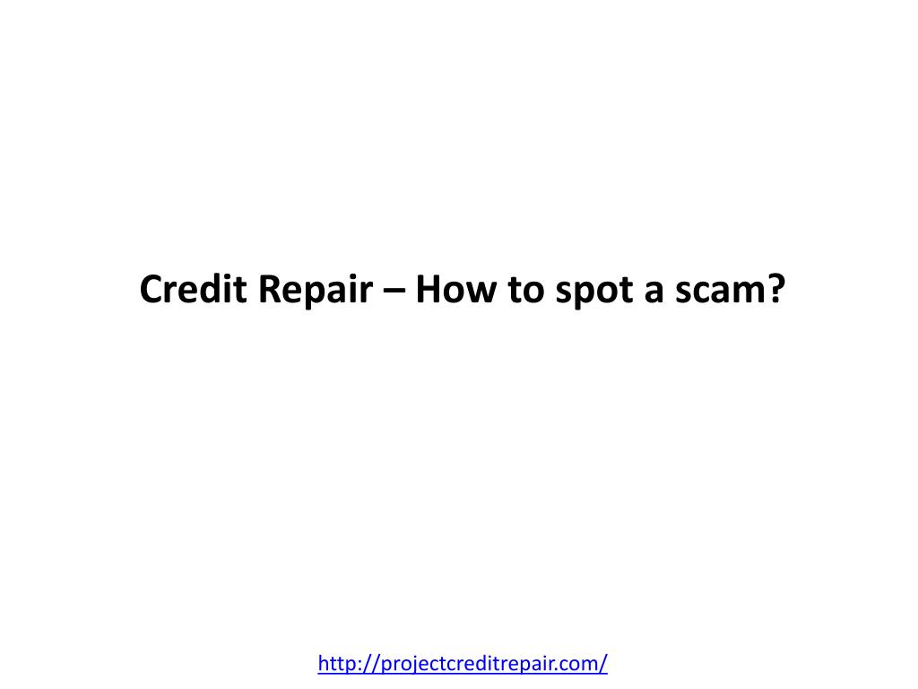 credit repair how to spot a scam