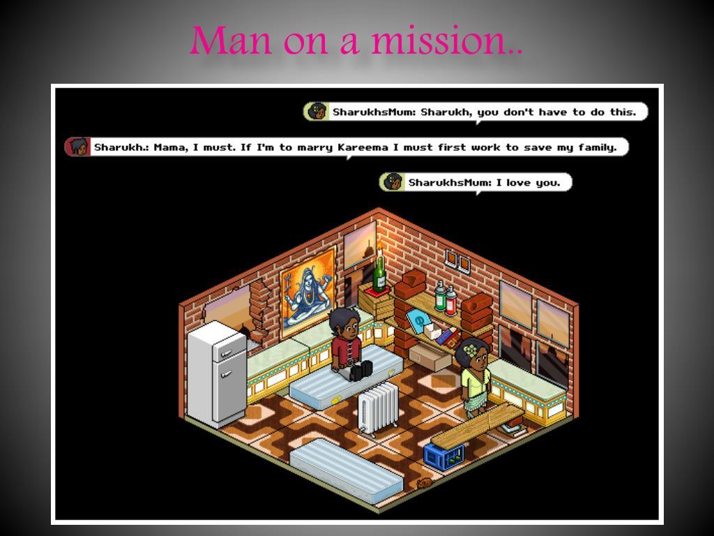 Man on a mission..