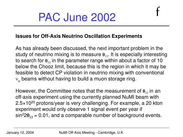 PAC June 2002