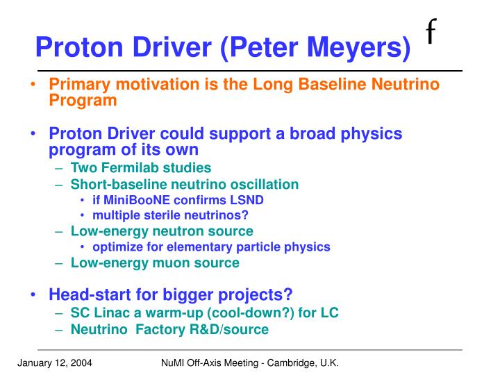 Proton Driver (Peter Meyers)