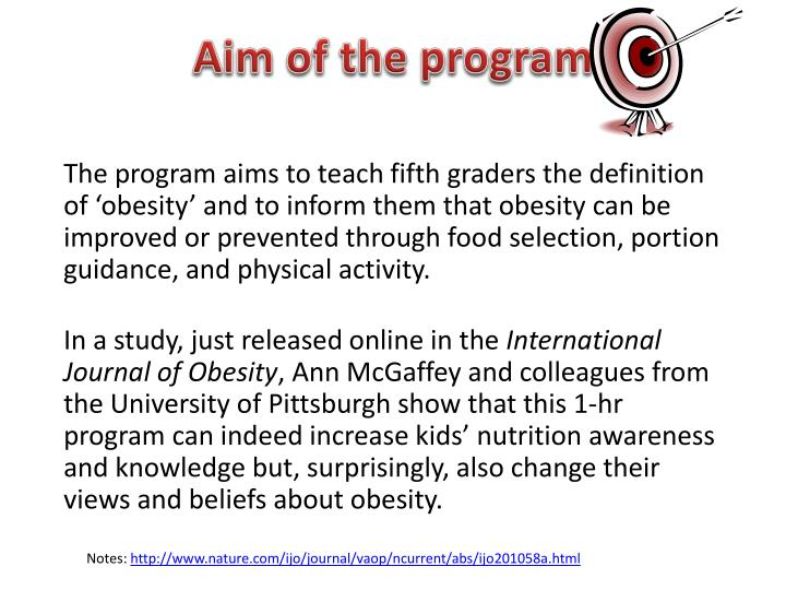 Aim of the program