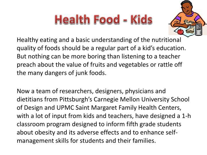 Health Food - Kids